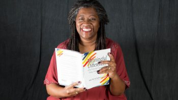 donna washington holding a book