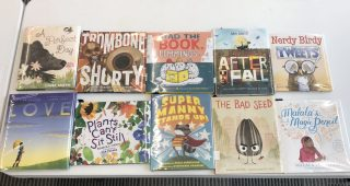 a table of childrens books